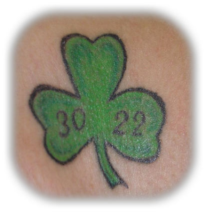 Aryan Brotherhood Shamrock Tattoo